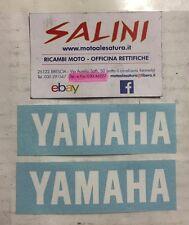 Adesivo coppia scritta YAMAHA bianca - piccola  - Sticker