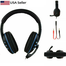 Gaming Headset Stereo Surround Headphone 3.5mm Wired Mic To PS4 Laptop Xbox one