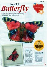 ~ Pull-Out Needle Felting Instructions For Beautiful Butterfly Picture ~