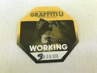 Keith Urban Graffiti U concert souvenir memorabilia 2018 tour backstage pass New