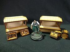 TTCombat - Old Town Scenics - 2 Wooden Market Stalls - Great for Malifaux
