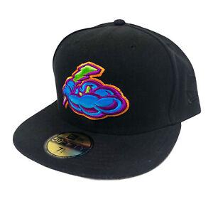 Trenton Thunders MiLB New Era 59FIFTY Fitted Cap (Black) NWT Size 7 1/4