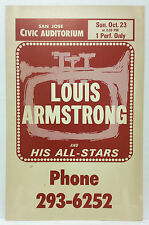 Satchmo Louis Armstrong Original 1960 Cardboard Boxing Style Concert Poster