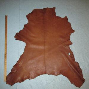 Cognac Waxed Goatskin Leather Hide Bookbinding Bible
