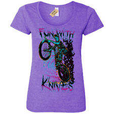 Fun with knives T-Shirt biker zombie demon T-Shirt Womens Ladies Scoop