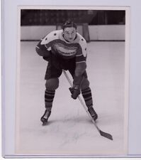 JOE LEPINE SIGNED 1954-55 OTTAWA SENATORS QHL ORIGINAL PHOTO RARE AUTOGRAPH AHL