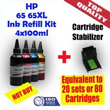 HP 65 65XL Refill Ink Cartridges 4x100ml Deskjet 2620 3720 3721 3722 ENVY 5030