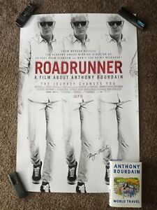Roadrunner (Anthony Bourdain) Original Poster SIGNED BY DIRECTOR with book!