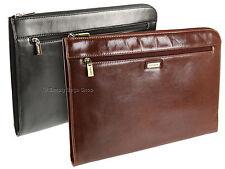 Visconti Leather Under Arm Meeting Folio A4 Document Holder File Folder Case