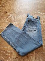 Vtg Levi's 577 Low Loose Rise Light Wash Jeans - Women's Size 16 M