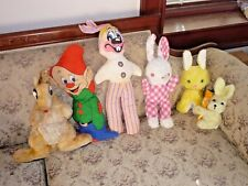 5 Stuffed Animal Rabbits and Dopey from Snow White