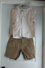 Girl / Women Junior's Union Bay 2 Shorts White and Tan Size 9