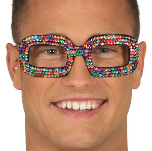 70s 80s Elton John Glasses Sunglasses Rocket Man Fancy Dress Specs Diamantes