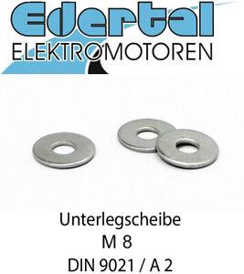 Unterlegscheibe ISO 7093 DIN 9021, M8, A2 VA Edelstahl Rostfrei 8mm Scheibe