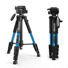 Blau Tragbares Leichtes Stativ Mit Tragetasche pan head für Digital SLR kamera