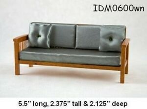 MISSION STYLE SOFA 1:12 SCALE DOLLHOUSE MINIATURES Heirloom Collection