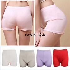 Womens 100% Mulberry Silk Knitted Boxer Briefs Panties Undies Boy Shorts
