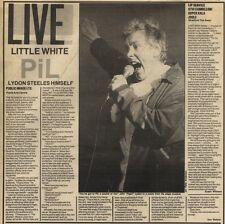 12/11/83PN49 REVIEW : PUBLIC IMAGE LTD LIVE PO0LE ARTS CENTRE