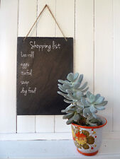 Large slate sign, shopping list, blank DIY message board, home decor, handcut