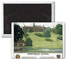 Aimant de frigo/réfrigérateur Shrewsbury School (ancienne annonce de train) (se)