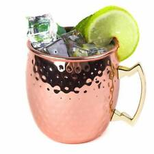 100% Pure Copper Solid Hammered Cups Mug Moscow Mule Cup Beer Mug Free Ship
