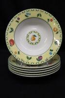 """6 Pc. Set of Victoria Beale SAVANNAH 9060 Porcelain Soup/Pasta Bowls 8 5/8"""""""