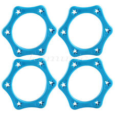 4Pcs Blue ABS Wireless Microphone Slip Holder Anti-rolling Protection Ring