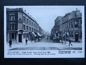 London OLD PUTNEY High Street & POST OFFICE 1904 RP Postcard by Pamlin C1045