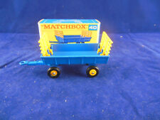 Matchbox Regular Wheels No. 40 Blue Hay Trailer with Yellow Raves