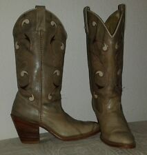 DINGO Women's Distressed Gray Leather Cowboy/Western boots Size 6 1/2 N USA Made