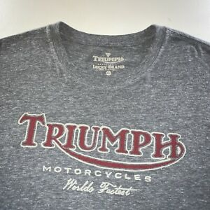 Men's Lucky Brand x Triumph Motorcycles Double Sided Logo Tee Shirt Size X Large