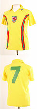 WALES YELLOW AWAY RETRO 1970'S FOOTBALL SHIRT MEDIUM M EURO 2016