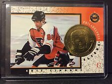 Eric Lindros 1997-98 Pinnacle Mint Die-Cut Card with Brass Coin #1