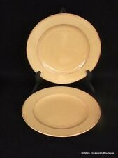 Pier 1 Toscana Gold 2 Salad Plates Hand-Painted Earthenware Italy