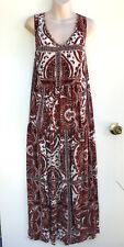 BE ME Plus Size Dream Catcher Rust Colour Boho Maxi Dress sz 20 NWT Rrp $80