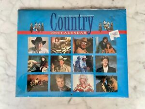The Official 1991 Country Music Foundation Calendar Sealed Vintage