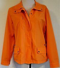 COLDWATER CREEK RN 98516 Women's Orange Mesh-Lined Windbreaker Jacket - Size: PL