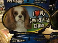 I Love My Cavalier King Charles 6 inch oval magnet for car or anything metal New