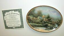 Lamplight Country Thomas Kinkade Plate 32 D Certificate