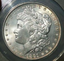 "1891-P MS-62 ""VAM-9A, DIE BREAK WING, DOUBLED EAR, R-6"" ANACS RARE FINEST VAM"