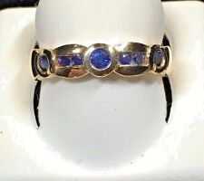 LADIES SAPPHIRE RING .SET IN 14KT YELLOW GOLD