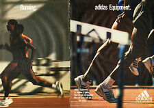 Publicité 1996  ( Double page )  ADIDAS chaussures baskets sport collection mode