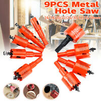 9PCS Hole Saw Tooth Kit HSS Steel Drill Bit Set Cutter Tool For Metal Wood Alloy