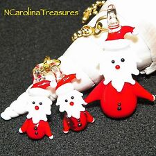 SANTA CLAUS SAINT NICK CHRISTMAS DECOR MURANO GLASS CEILING FAN SWITCH PULLS SET