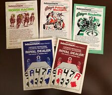 Intellivision Manuals for Gaming Network Games From Mattel Electronics