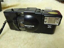 35mm film Olympus XA1 black compact camera 35mm Zuiko plus  Flash
