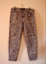 Hose Mango Casual Gr. 42 getragen Zebramuster