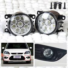 9LED Round Front Fog Lamp DRL Daytime Running Light For Ford Focus Honda Subaru