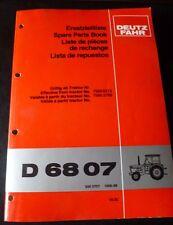 Deutz Fahr Schlepper D6807 Ersatzteil-Katalog