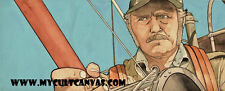 Original Jaws Art PRINT poster Captain Quint McFarlane Toy DVD Blu Amity Island